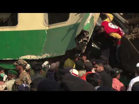 At least 20 dead, dozens injured after Pakistan train collision
