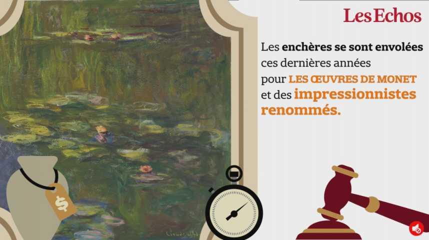 """Illustration pour la vidéo Mise aux enchères pour 45 millions de dollars, la """"Meule"""" de Monet a finalement été adjugée à 81,4 millions de dollars"""