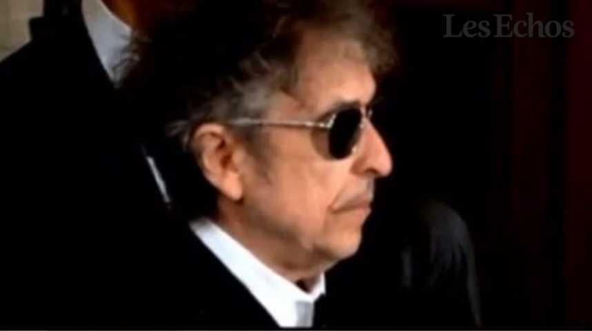 Illustration pour la vidéo Bob Dylan, icône de la musique américaine, prix Nobel de littérature