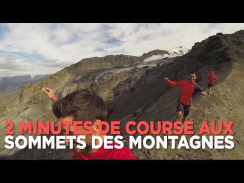 2 minutes de course aux sommets des montagnes islandaises