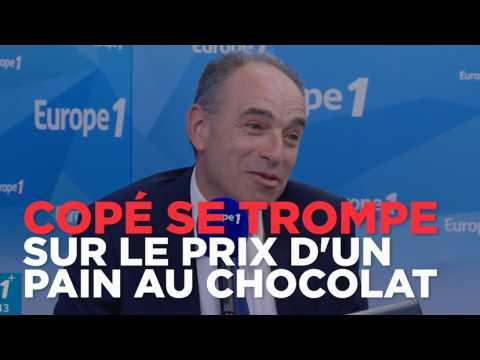 """Pour Copé, un pain au chocolat coûte """"aux alentours de 10 et 15 centimes d'euros"""""""