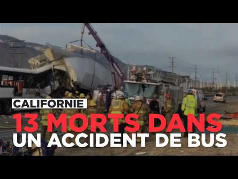 Californie : 13 morts dans un accident de bus