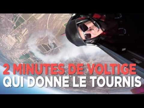2 minutes de voltige avec un aviateur qui donne le tournis