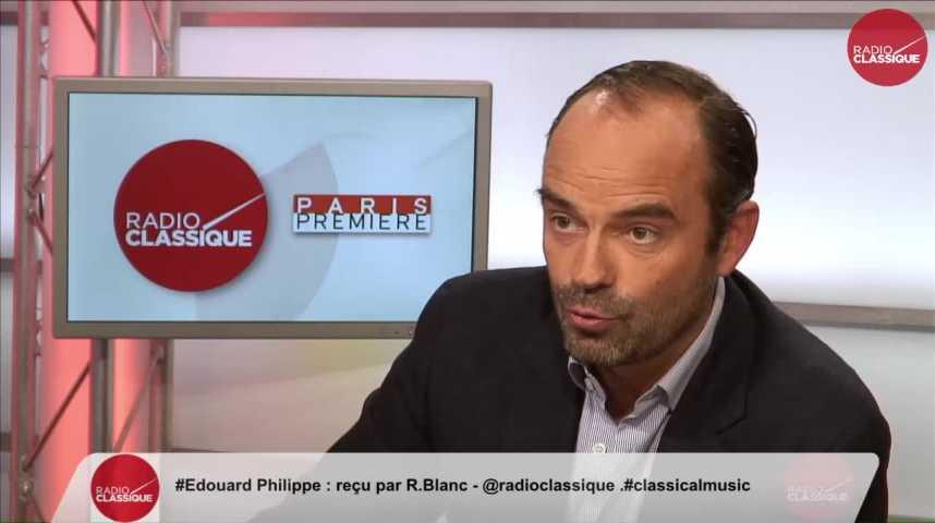 """Illustration pour la vidéo """"Bayrou ne pourra jamais être le Premier Ministre d'Alain Juppé"""" Edouard Philippe (25/10/2016)"""