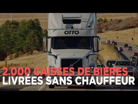 2000 caisses de bières livrées par un camion sans-chauffeur