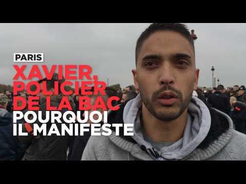 Pourquoi Xavier, policier de la BAC, manifeste