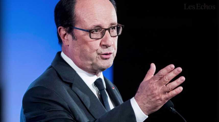 Illustration pour la vidéo L'Expresso du 17 octobre 2016 : François Hollande à Florange pour défendre son action...