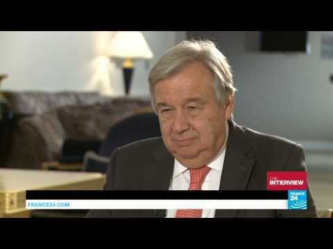 Syria is top priority, new UN Secretary-General Guterres tells FRANCE 24