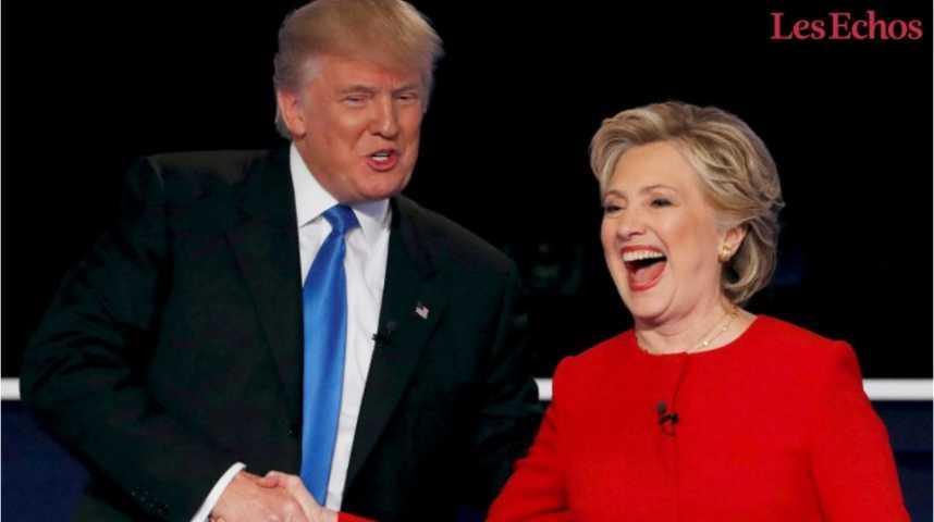 Illustration pour la vidéo Clinton vs. Trump : le match des programmes