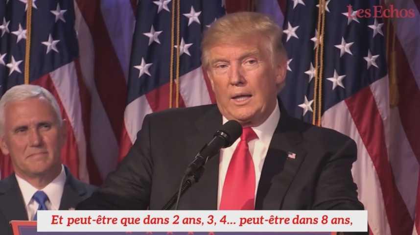 Illustration pour la vidéo Donald Trump se projette déjà dans son second mandat