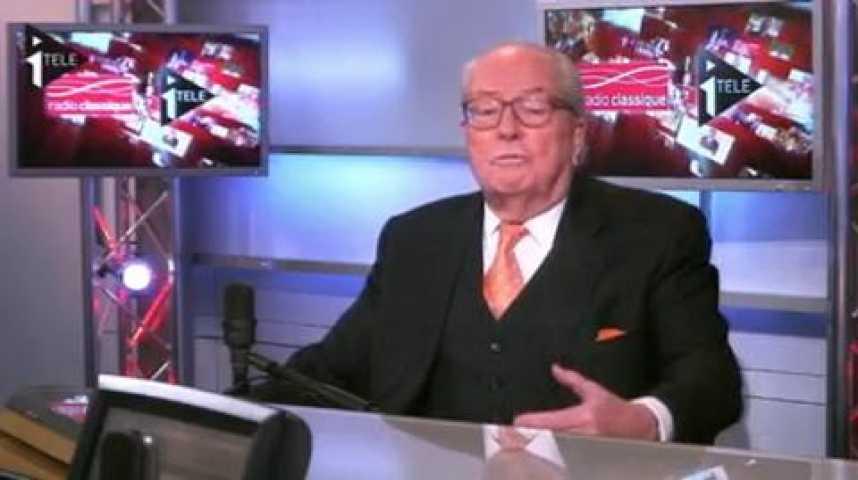 Illustration pour la vidéo Jean-Marie Le Pen était le 1er invité de Guillaume Durand et Michaël Darmon