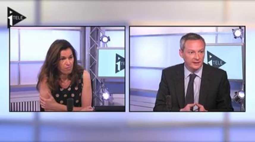 Illustration pour la vidéo Duel Aurélie Filippetti et Bruno Le Maire animé par Jean-Jérôme Bertolus