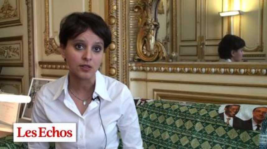 """Illustration pour la vidéo Najat Vallaud-Belkacem : """"Deux entreprises vont être sanctionnées pour la première fois"""""""