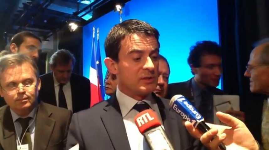 Illustration pour la vidéo Manuel Valls : L'explosion de cette nuit n'a rien à voir avec la visite de François Hollande au Vatican