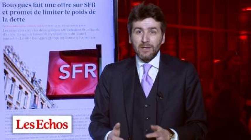 """Illustration pour la vidéo Stéphane dubreuil : """"La fusion SFR / Bouygtel pourrait aussi bénéficier à Free"""""""