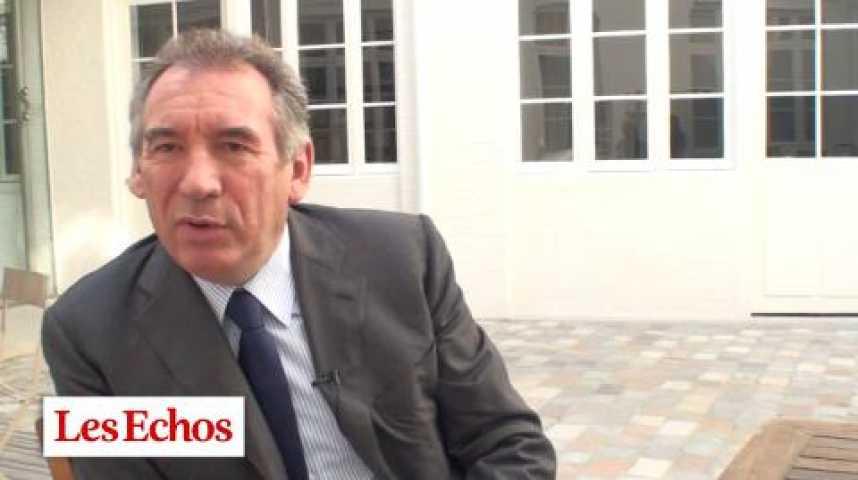 """Illustration pour la vidéo F. Bayrou : """"La vague bleu Marine ? Tout peut arriver, même le pire"""""""