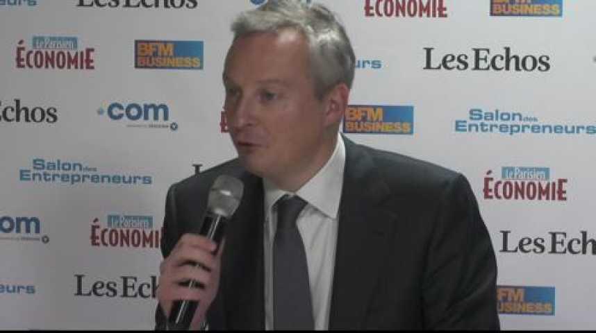 """Illustration pour la vidéo Bruno Le Maire : """" La loi Macron ne parle pas des sujets essentiels"""""""