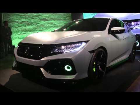 New York Press Briefing Reveal of 2017 Honda Civic Hatchback Prototype | AutoMotoTV