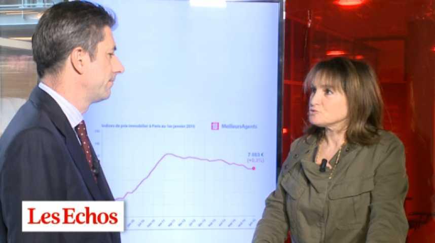 Illustration pour la vidéo Les prix de l'immobilier parisien devraient baisser de 3% en 2015