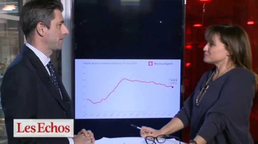 Illustration pour la vidéo Les prix de l'immobilier parisien repartent à la baisse