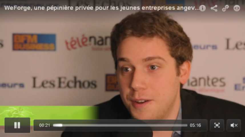 Illustration pour la vidéo WeForge, une pépinière privée pour les jeunes entreprises angevines