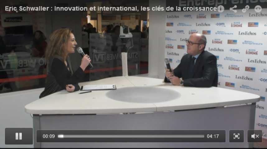 Illustration pour la vidéo Eric Schwaller : Innovation et international, les clés de la croissance