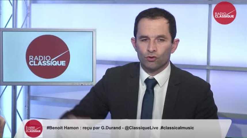 Illustration pour la vidéo Benoît Hamon, «Droite et gauche sont prêtes à modifier la Constitution pour rien, pour une efficacité nulle »