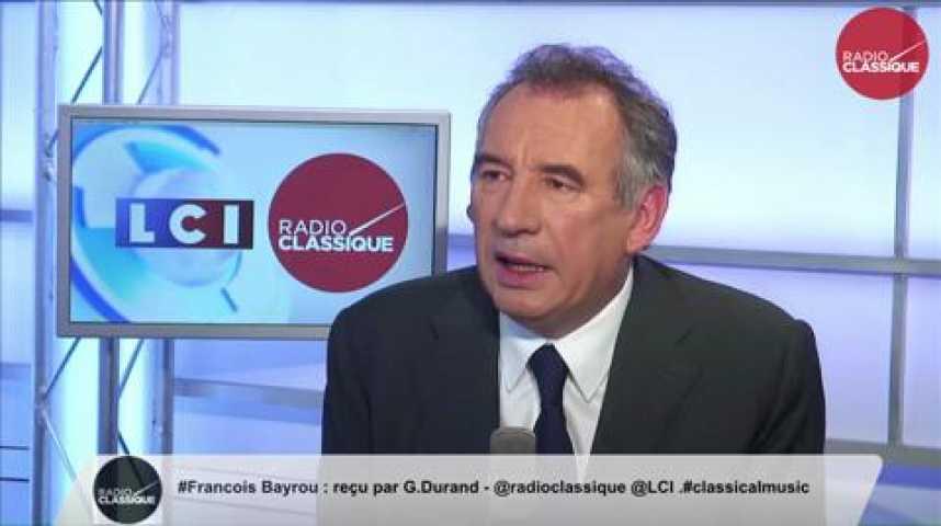 """Illustration pour la vidéo François Bayrou,  """"Lutte contre le terrorisme : « La grande question est l'échange de renseignements »"""""""