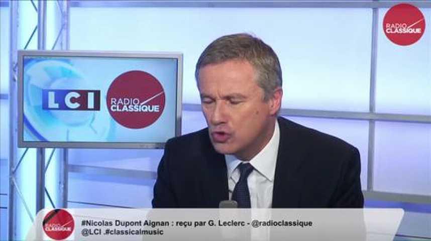 Illustration pour la vidéo Nicolas Dupont-Aignan,  « Les médias ne parlent que du Front national »