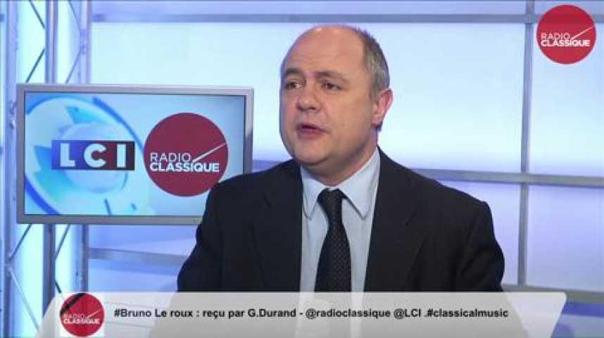 Illustration pour la vidéo Bruno Le Roux,  «Nous appelons nos électeurs à voter pour le candidat qui pourra battre le Front national»
