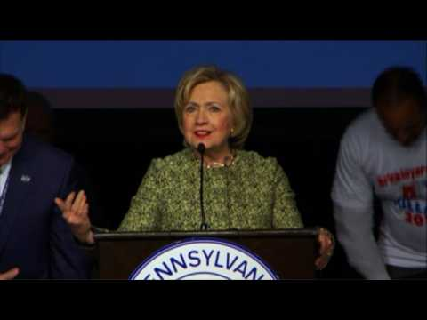 Clinton calls for 'strong and vibrant' labor movement