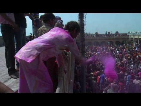 India celebrates Holi festival with traditional coloured powders