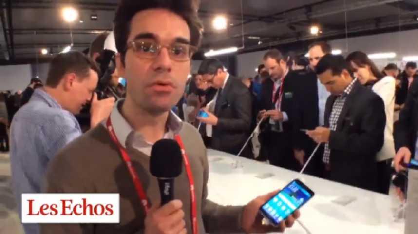 Illustration pour la vidéo Le Galaxy S5 de Samsung au Mobile World Congress de Barcelone en vidéo
