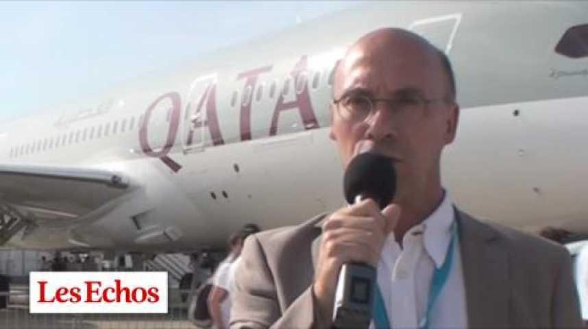 Illustration pour la vidéo Salon du Bourget : une deuxième journée sous le signe du Boeing 787