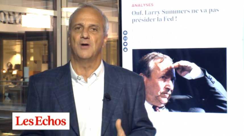 Illustration pour la vidéo Ouf, Larry Summers ne va pas présider la Fed ! L'analyse de Jean-Marc Vittori