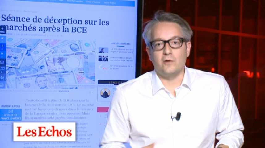 Illustration pour la vidéo BCE : Mario Draghi sème le doute