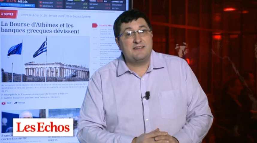 Illustration pour la vidéo Le bras de fer entre Athènes et la BCE s'intensifie
