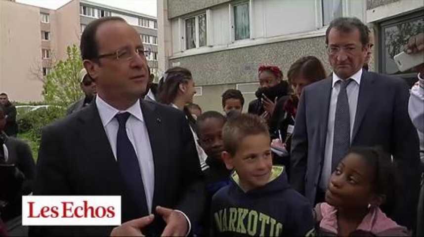 Illustration pour la vidéo Emploi : Hollande cible les jeunes et les quartiers populaires