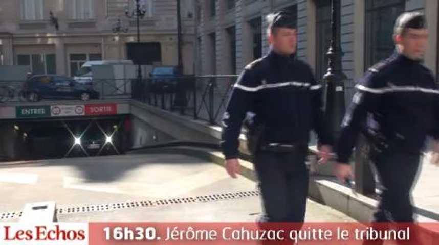 Illustration pour la vidéo 16h30. Jérôme Cahuzac quitte le tribunal