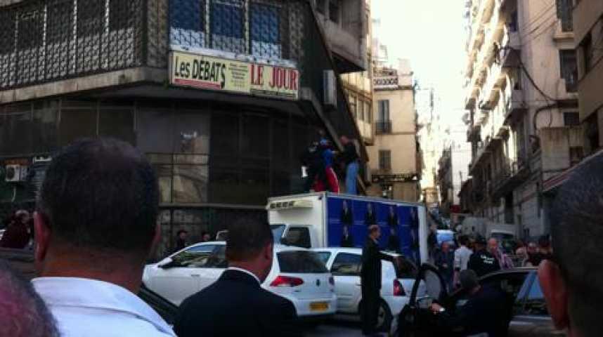 Illustration pour la vidéo Manifestation interdite à Alger