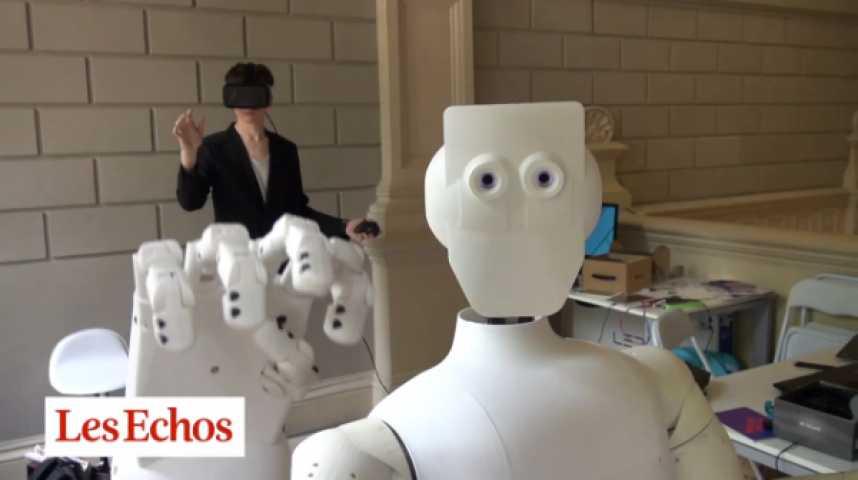 Illustration pour la vidéo SAMI, le robot semi-humanoïde contrôlé par la pensée