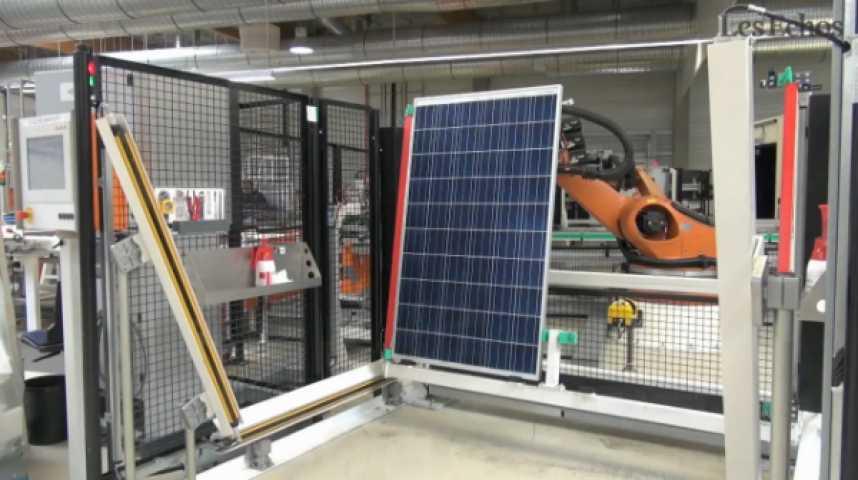 Illustration pour la vidéo Solarwatt : dans les coulisses de la fabrication de panneaux solaires