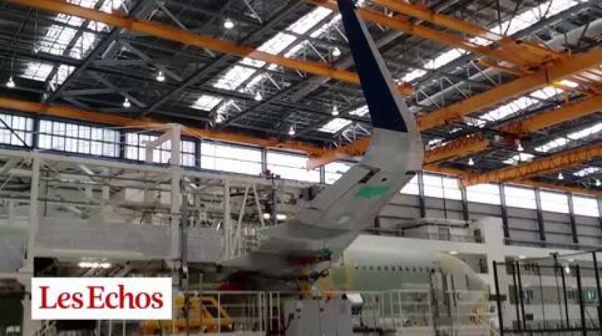 Illustration pour la vidéo Airbus : naissance d'un A320 sur la chaîne américaine de Mobile en Alabama