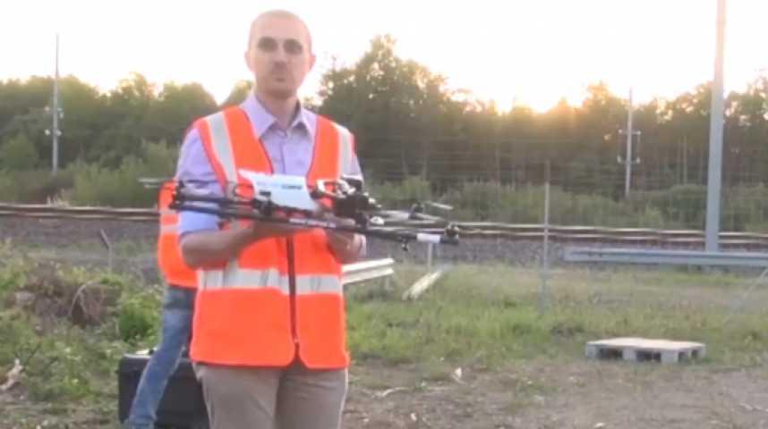 Illustration pour la vidéo Surveillance du réseau : la SNCF fait la démonstration de ses drones