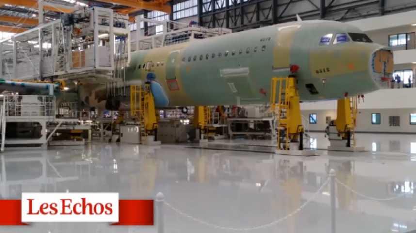 """Illustration pour la vidéo Mobile : dans l'usine des Airbus """"made in America"""""""