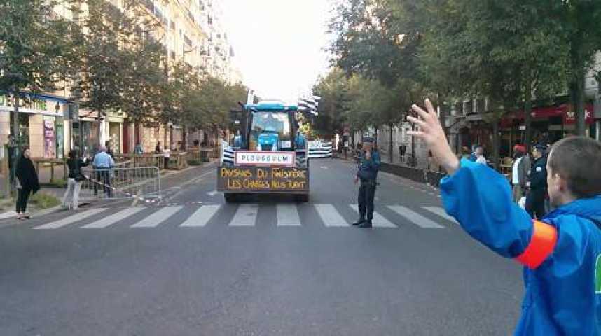 Illustration pour la vidéo Manifestation des agriculteurs : les premiers tracteurs à Paris