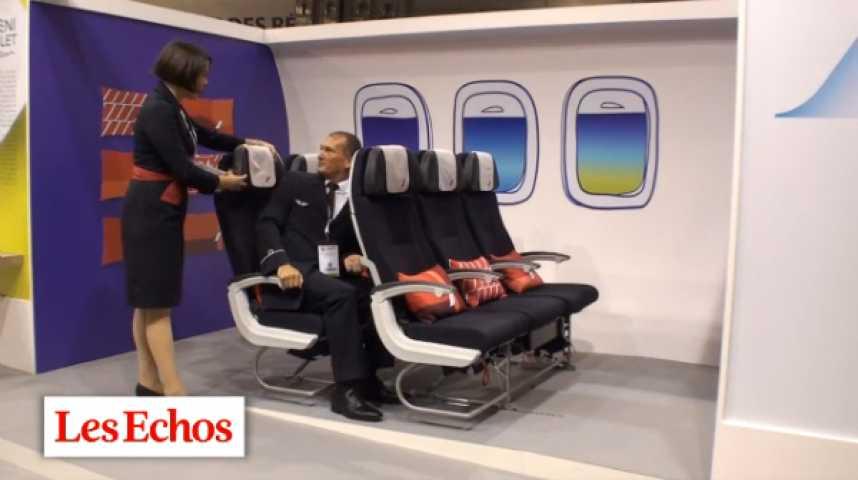 Illustration pour la vidéo Air France : un siège à 12.000 euros pour la classe éco