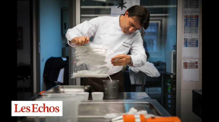 Illustration pour la vidéo Quand le chef Yannick Alléno réinvente les sauces en labo...