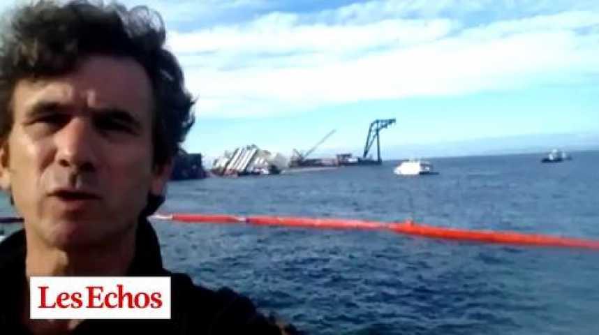 """Illustration pour la vidéo Redressement du """"Costa Concordia"""" : des résultats encourageants"""
