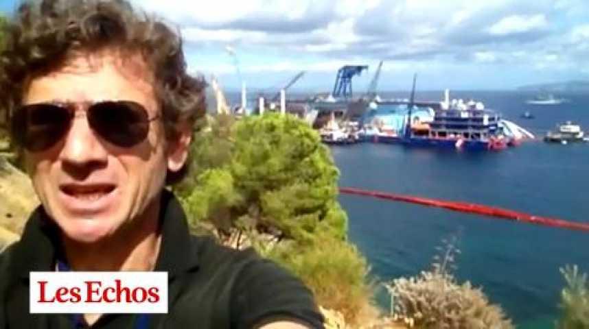 """Illustration pour la vidéo Le redressement du """"Costa Concordia"""" est en bonne voie"""
